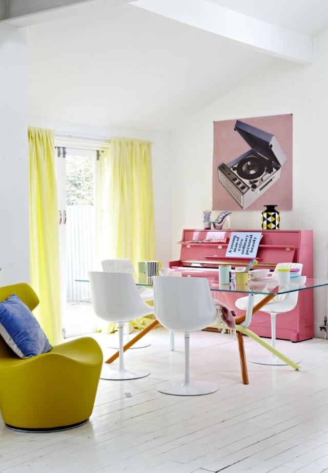 Pink piano decor idea