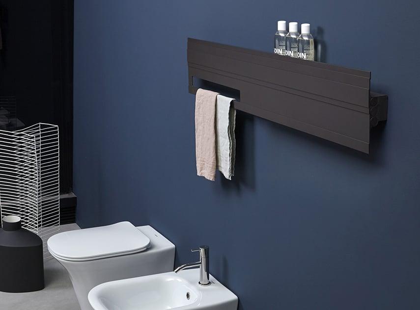 BitLight horizontal decorative radiator shelf by Antonio Lupi Design