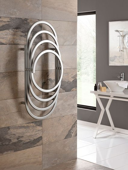 EOS Chrome wall-mounted towel warmer by Hotwave