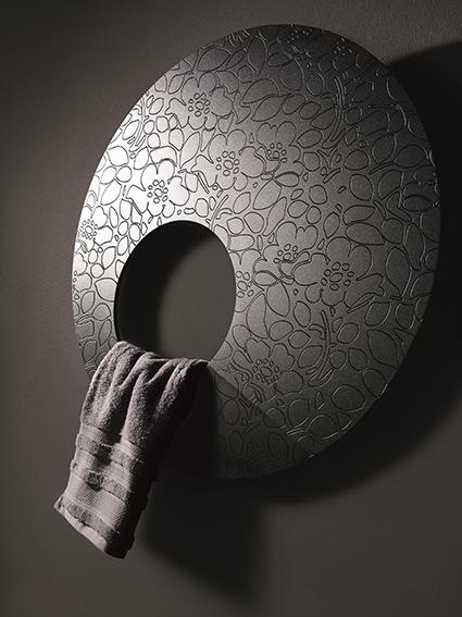 An artsy cirular radiator by Ridea