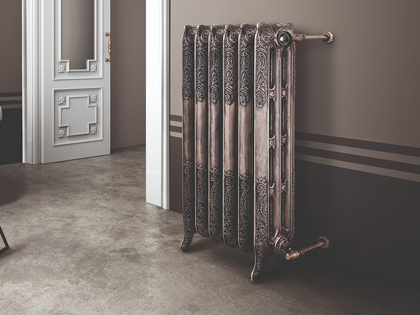 Roi Soleil cast iron decorative radiator by Scirocco