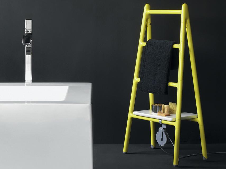 Scaletta Floor-standing radiator by Tubes looks like a blanket holder ladder