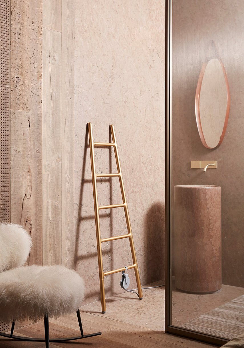 Scaletta Gold Limited Edition Floor-standing radiator by Tubes Radiatori