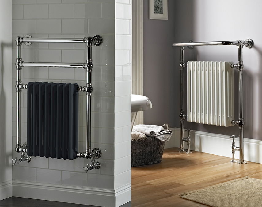 Traditional towel warmer/ radiator combination by Vogue