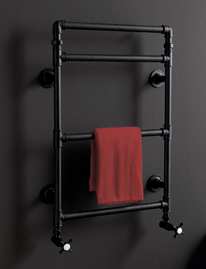 Vintage black towel warmer from Blue Provence