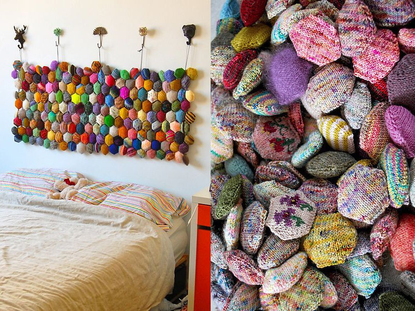 This honeycomb woven headboard is so much fun!