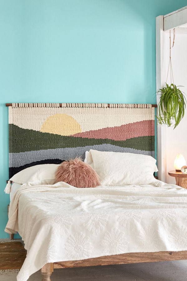 Never miss a sunrise with this woven headboard!