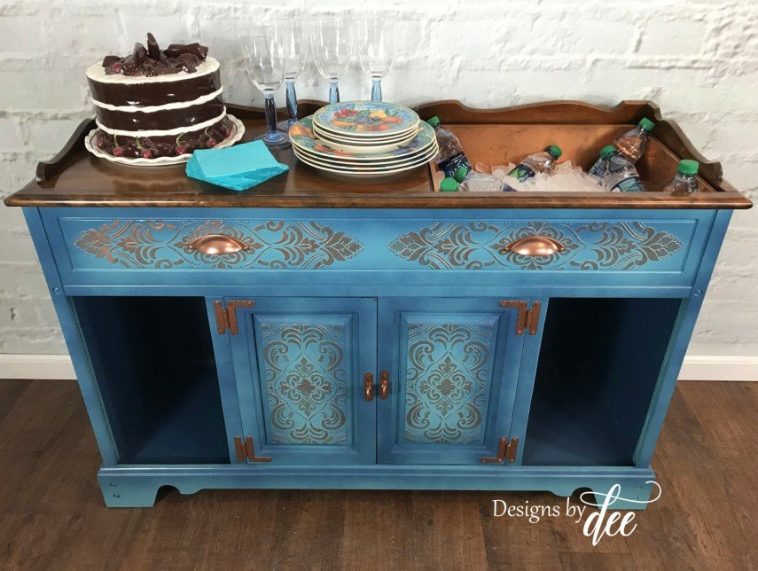 This piece makes a great serving table