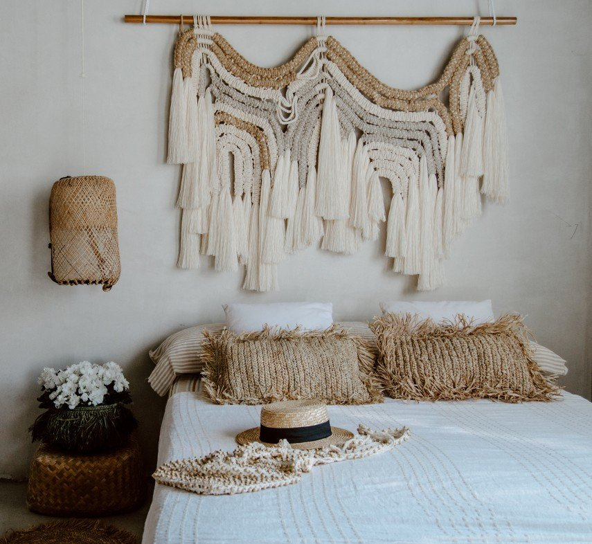 A combo of jute and cotton makes a great art piece.