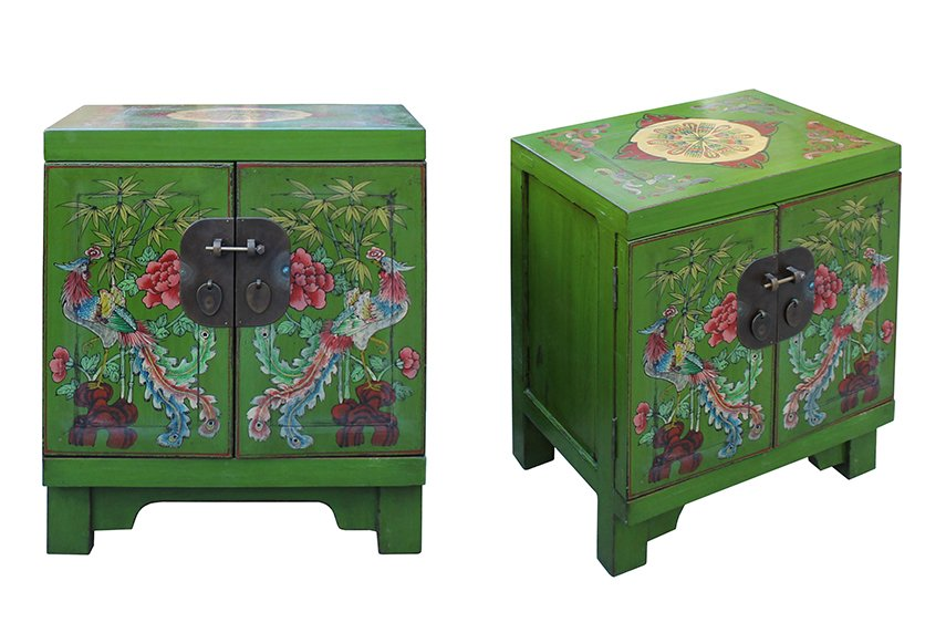 Decorative painted furniture with Asian style