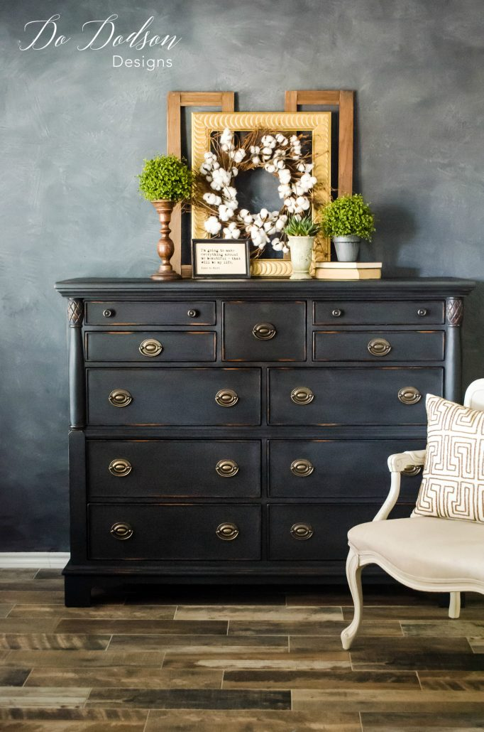 Black custom painted furniture is all the rage