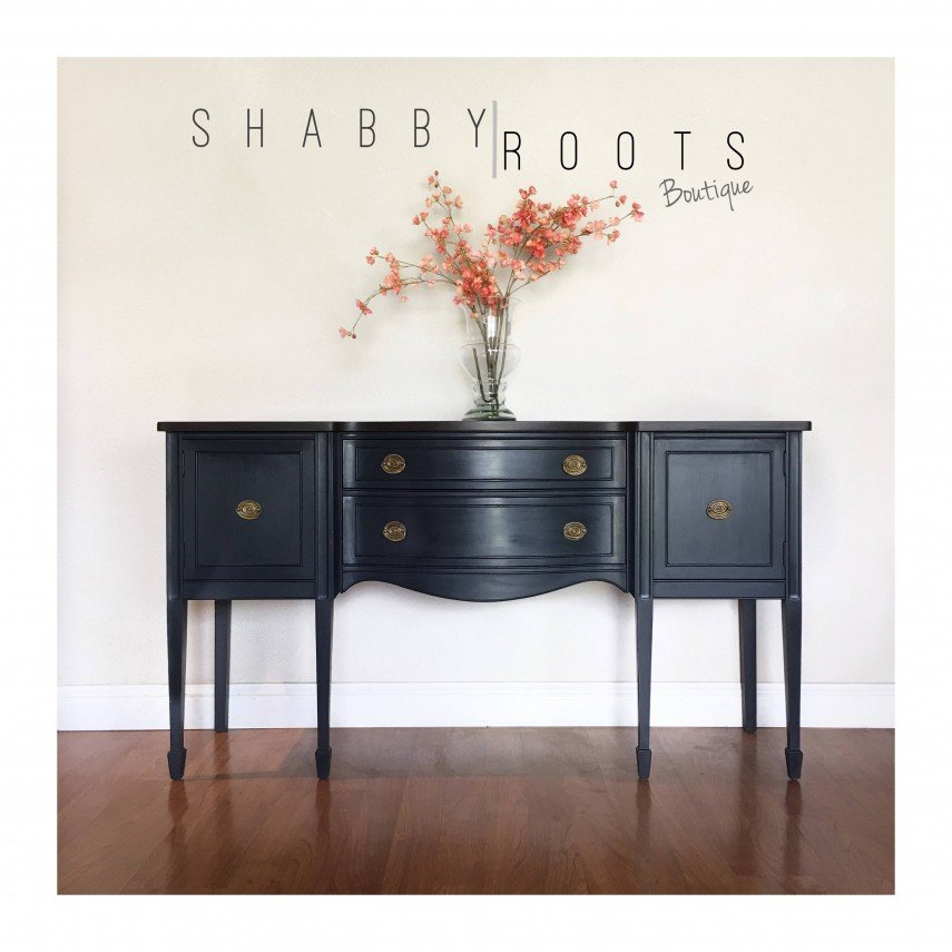 This federal sideboard is stunning in black