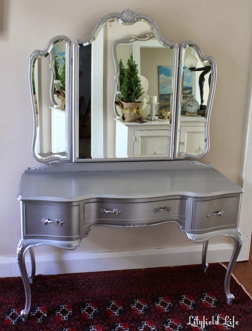 Silver metallic paint can make an old piece come to life