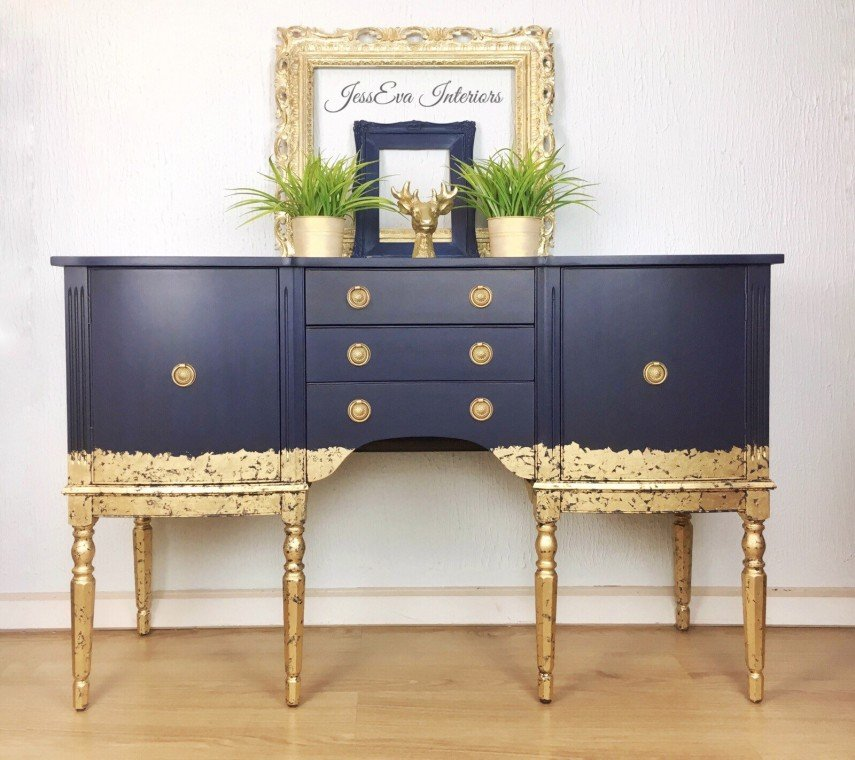 Another example of using gold paint over colors