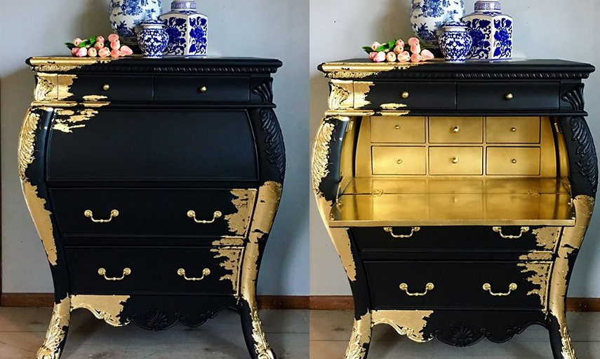 Gold on black is rich - and check out the interior - that's style