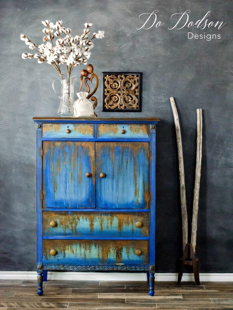 Indigo and rust - a winning combo