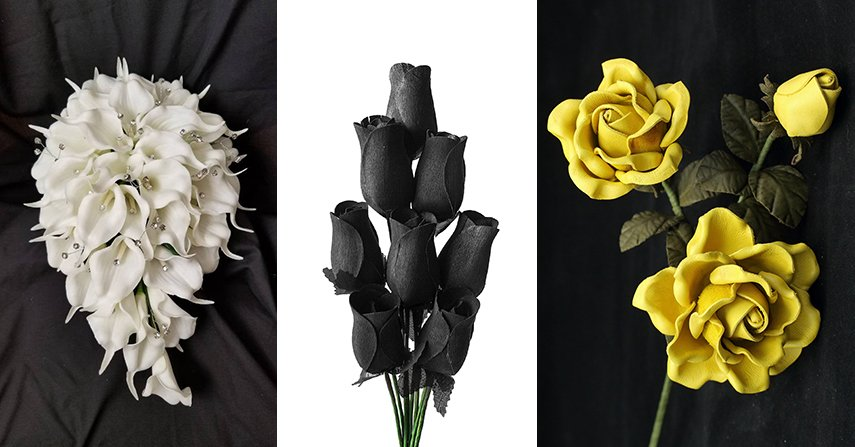 Realistic artificial flowers