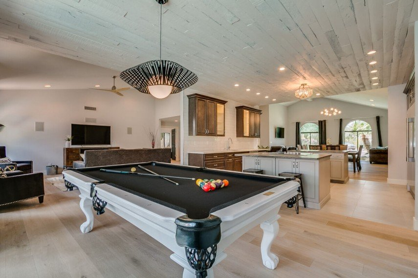 Your billiards room can be part of an elegant home