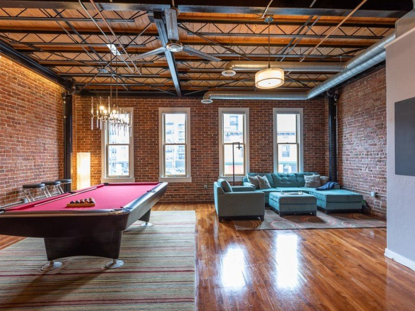 Your billiard room can simply be part of your living space