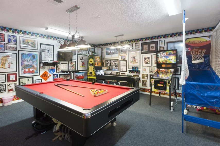 Turn your basement pool room into a games room