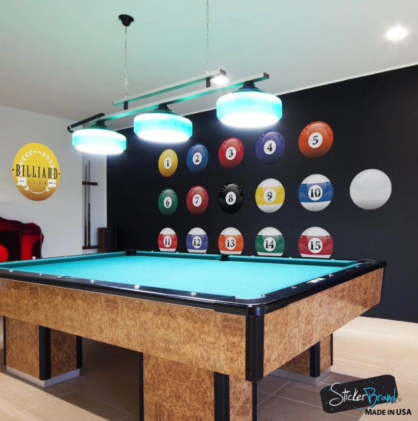 Pool ball wallpaper rocks this billiards room