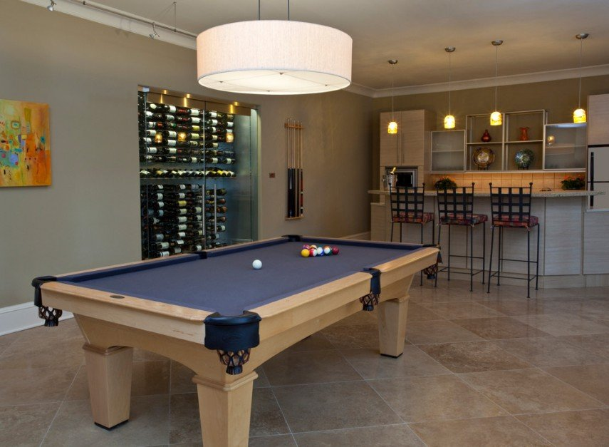 Add a wine cellar to your pool room to complement your bar