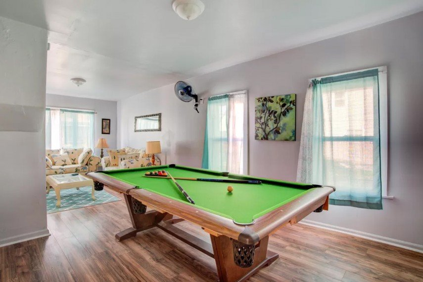 Green pool tables are the most common color