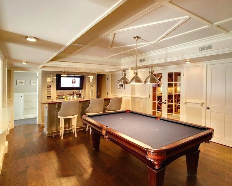 A bar, a TV, a pool table - we're never leaving