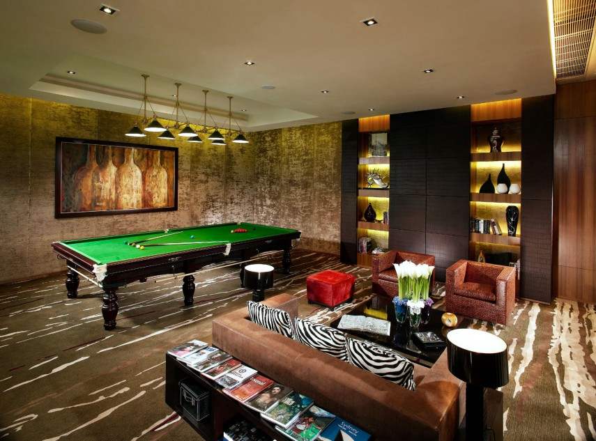 You can be as bold as you like with your pool room decoration