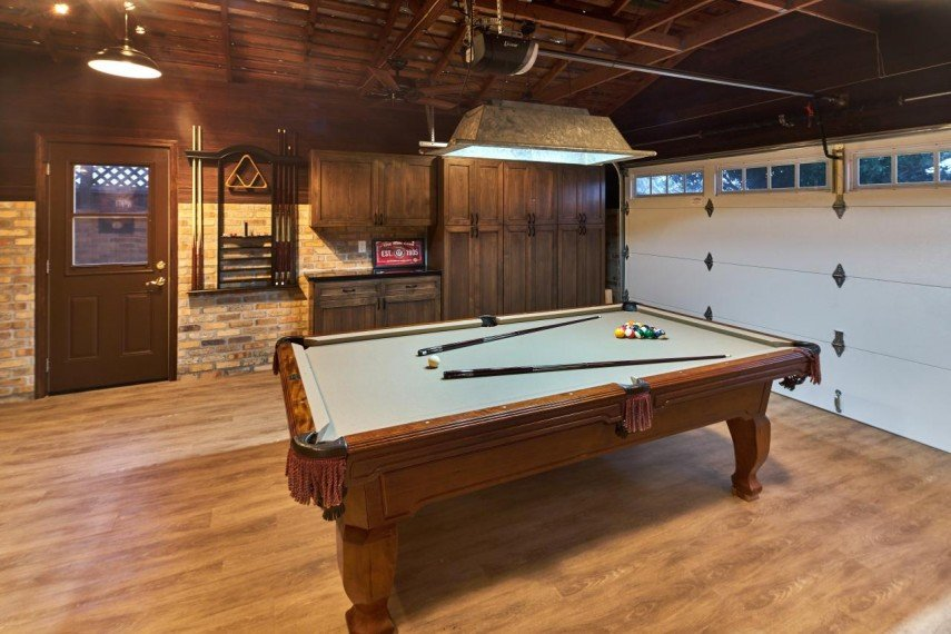 When is a garage not a garage? When it's a billiards room.