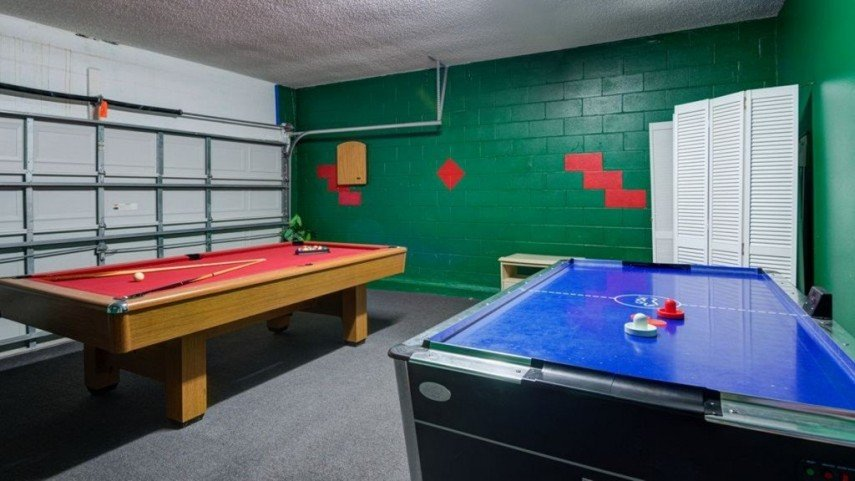 You can turn an unused garage into a billiards room