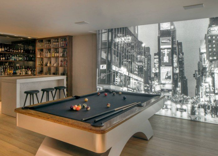 For your billiards room - a wall mural that looks like you could step into it