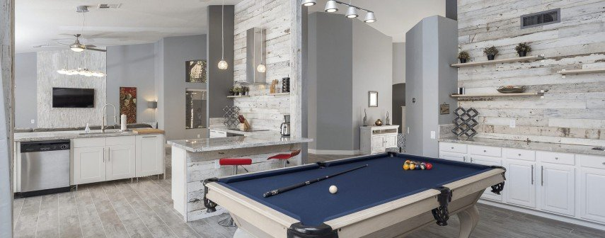 Incorporate your billiards room into the design of your great room
