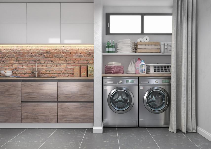 Beside kitchen laundry room design idea in closet