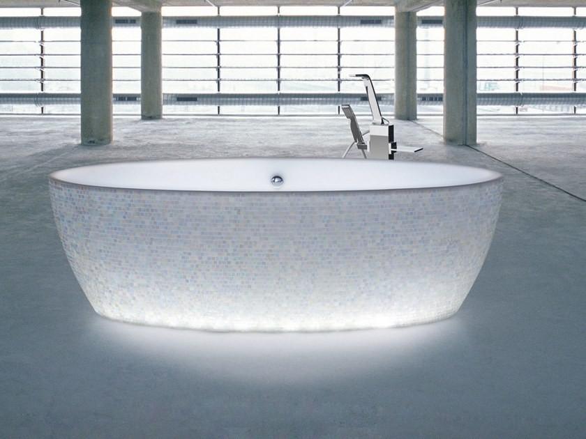 bathtub with lights