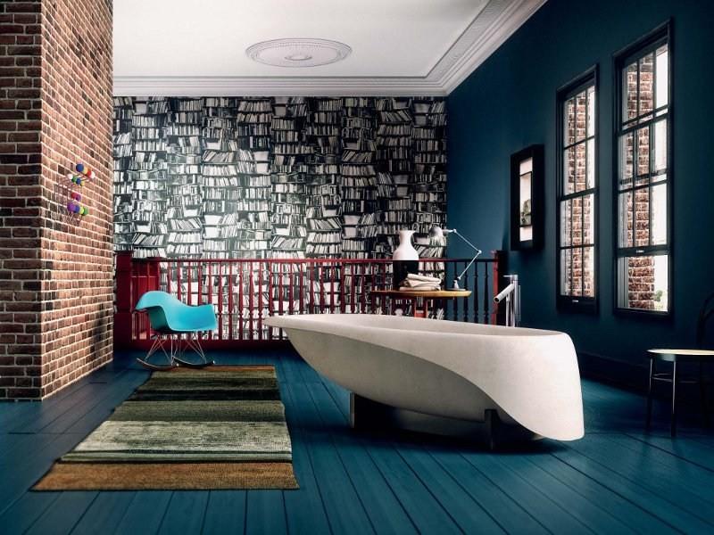 concrete bathtub