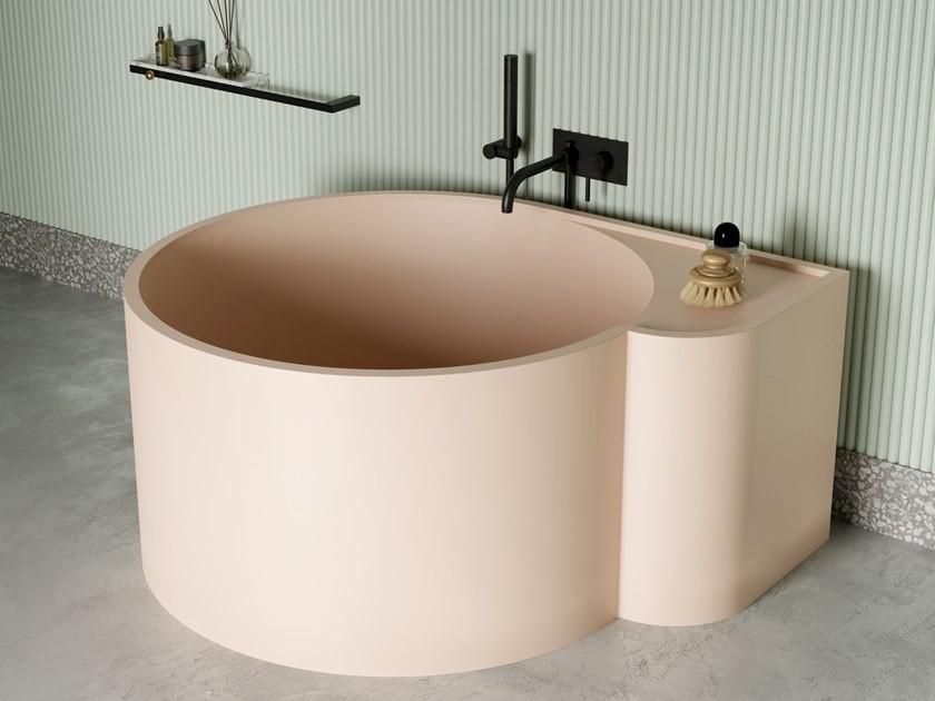 contemporary round bathtub