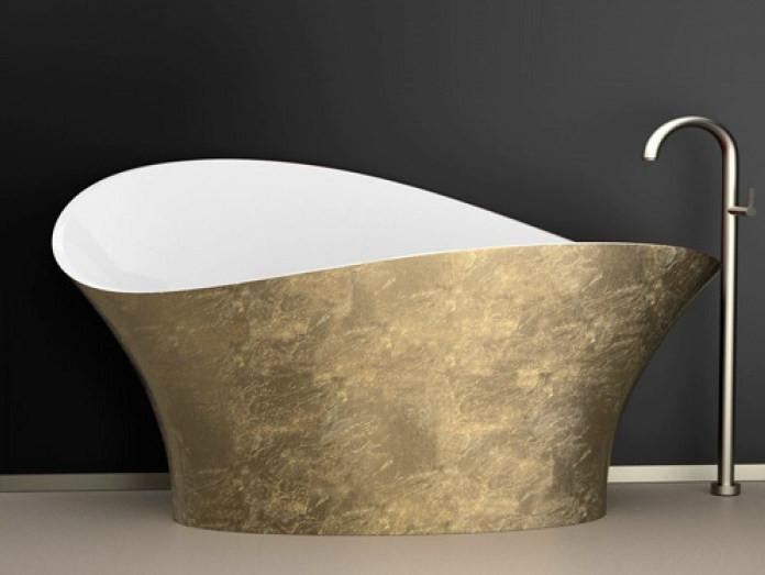 gold leaf bathtub