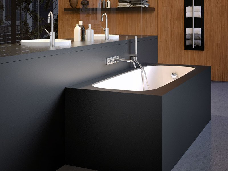 black undermount bathtub