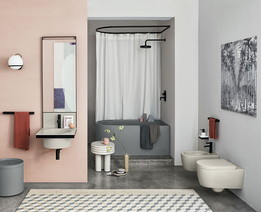 Febe - the compact rounded rectangle bathtub from Cielo
