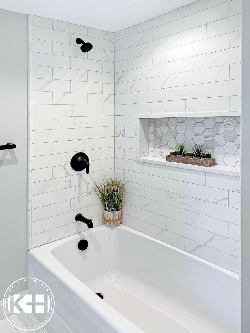 focal piece shower niche