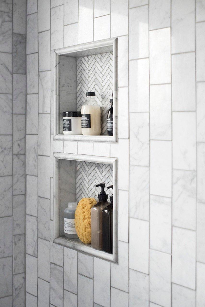 framed shower niche
