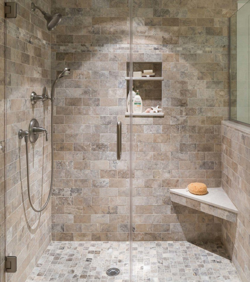 natural stone shower
