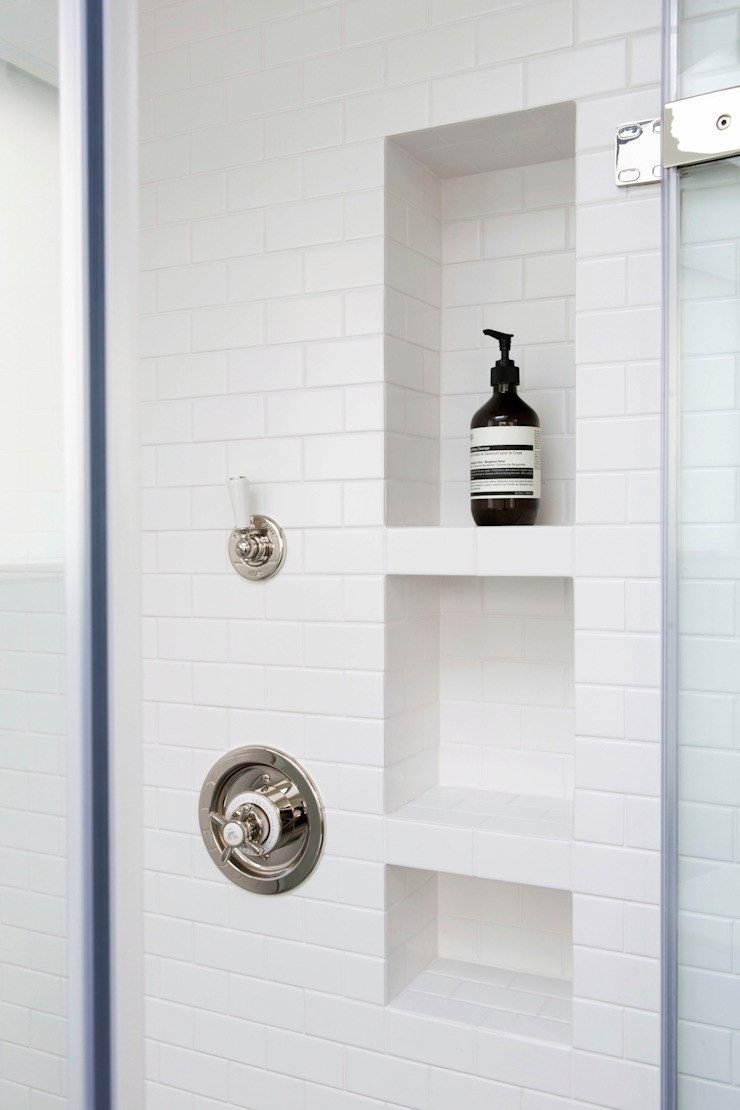 simple white shower