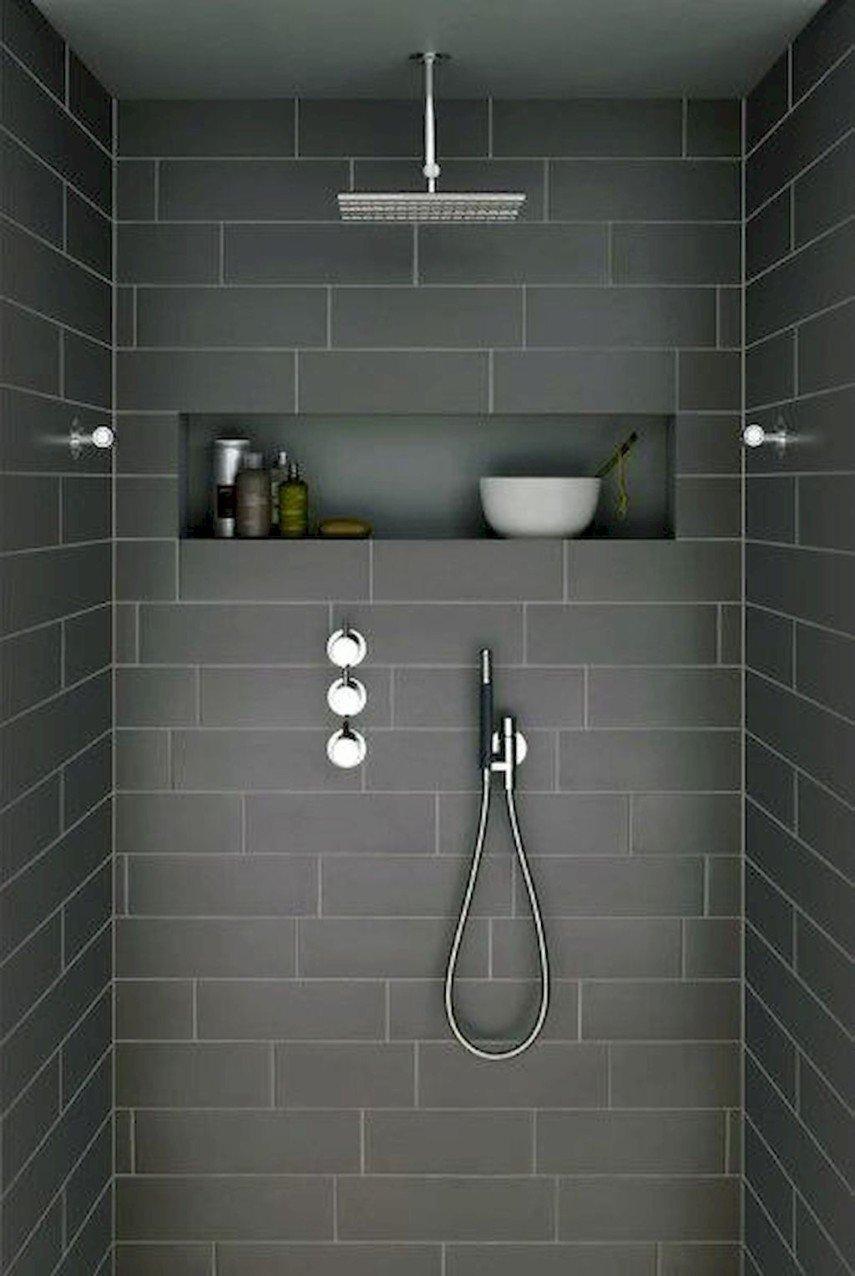 dark minimalist shower