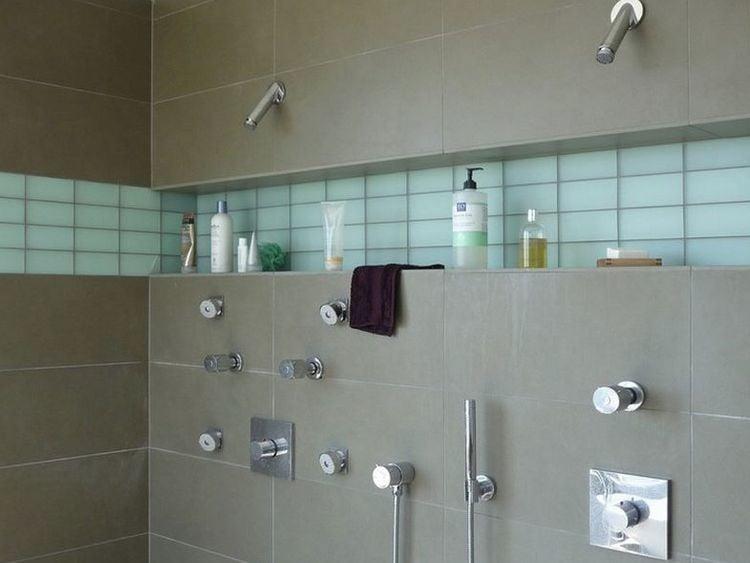 modern double shower