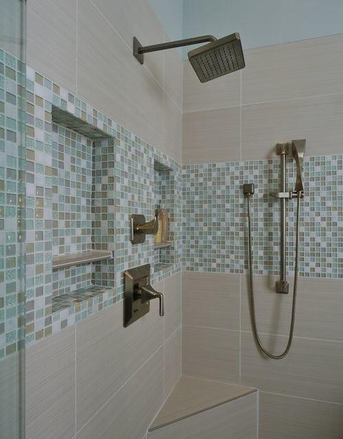 sea themed mosaic shower