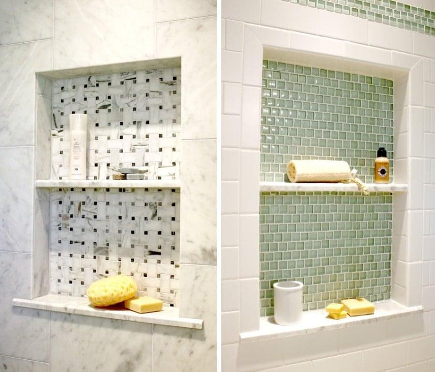 different color tile niche