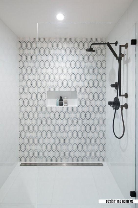 patterned shower