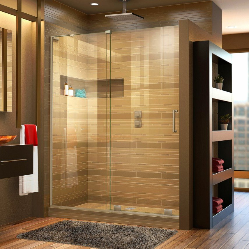 corner shower niche